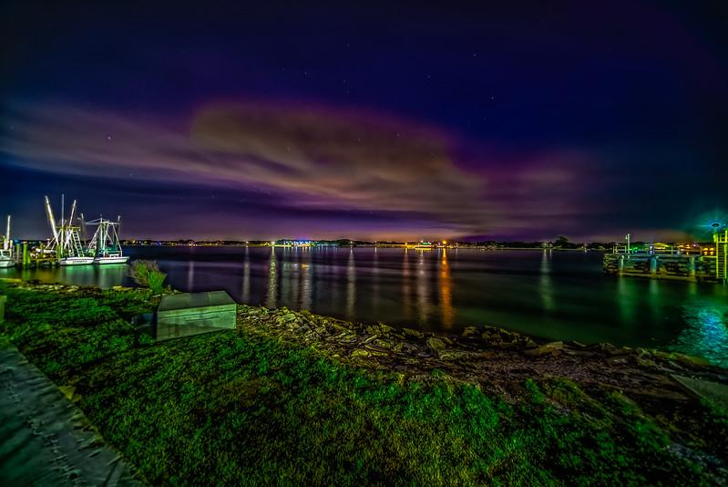 Smoky River City at Night