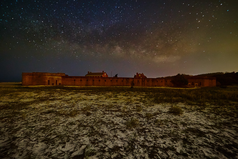 Milky Way over Fort Clinch