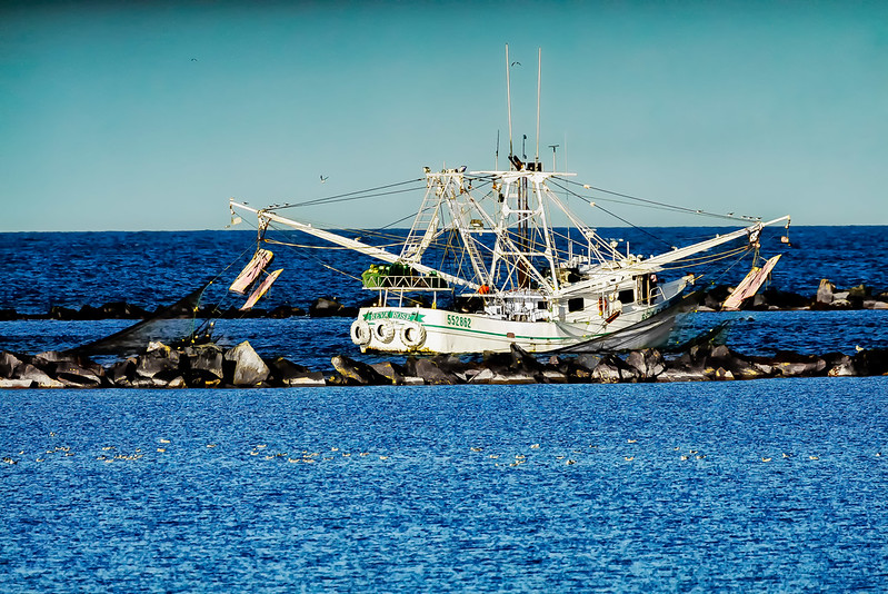 Shrimp Boat in the Channel