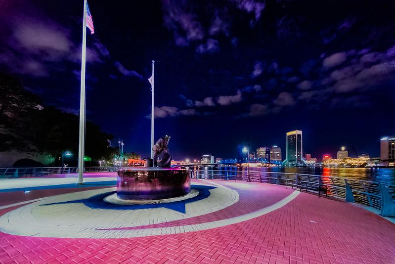 Lone Sailor Overlooking Jacksonville Fl.