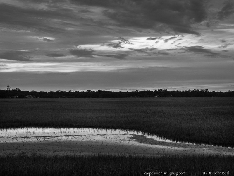 (2 Jul 2018)<br /> <br /> sunset over one of the marshes of glynn.<br /> <br /> <br /> f/5.6, 1/50s, iso 1600.