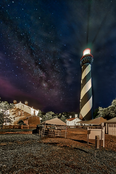 St. Augustine Lighthouse and Milky Way