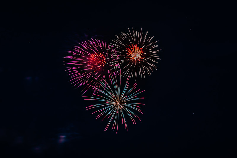 2018 Fireworks Bursting Stars