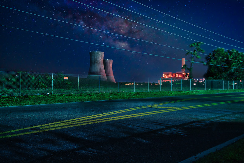 JEA Power Plant and Milky Way