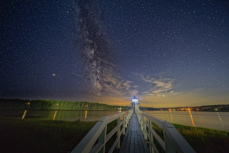 Doubling Point Lighthouse Milky Way