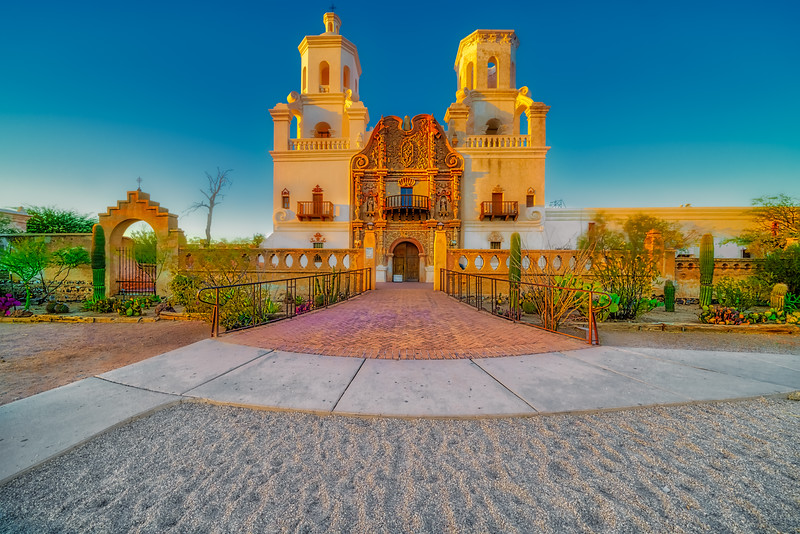 Mission San Xavier Del Bac at Golden Hour