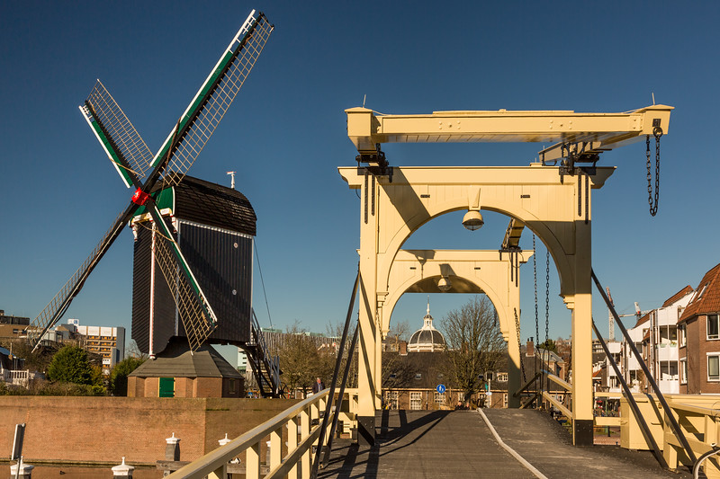 A similar bridge and another windmill.