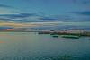 Sunset behind River Pier Restaurant