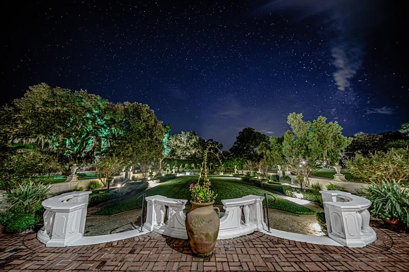 A Night in the Crane Cottage Garden