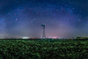 Winter Milky Way over Windmill