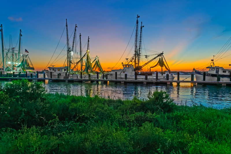 Sunset at Shrimp Boat Pier