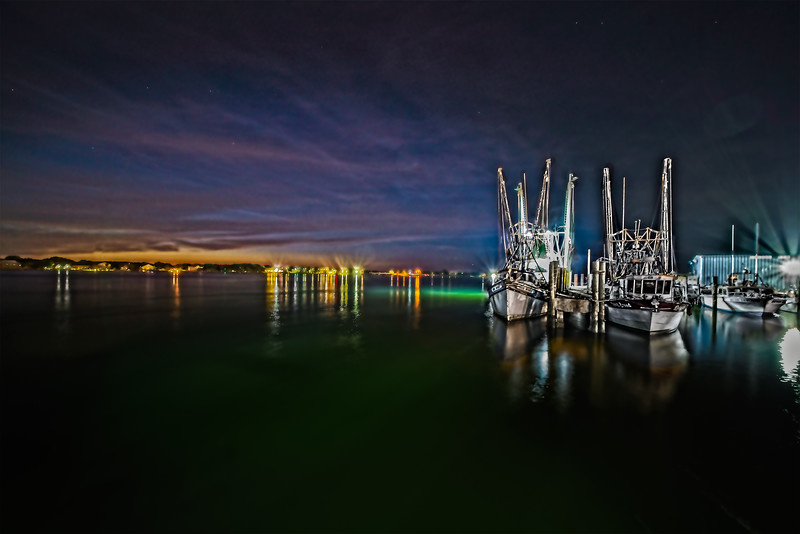 Astronomical Twilight View from the Shrimp Boat Docks