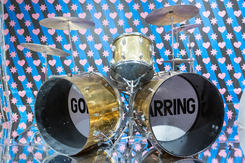 Drum set of the Golden Earring, the most famous Dutch pop band.