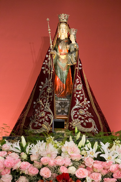 Statue of the Virgin Mary.
