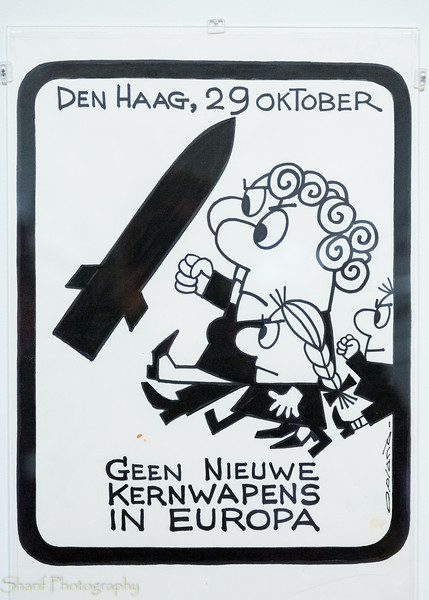 Poster of the anti-nuclear arms movement in the Netherlands.