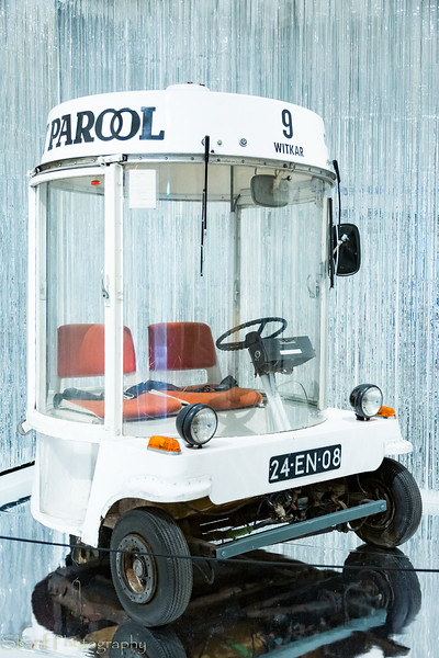 Electric rental city car from the 70s