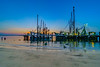 Shrimp Boats at Blue Hour and Last Light