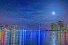 Super Moon Shines over River City