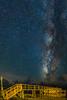 Bright Stars Far Side of Dark Clouds