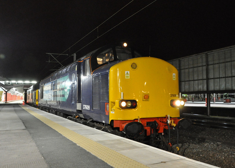 37609 and 37606, Crewe.
