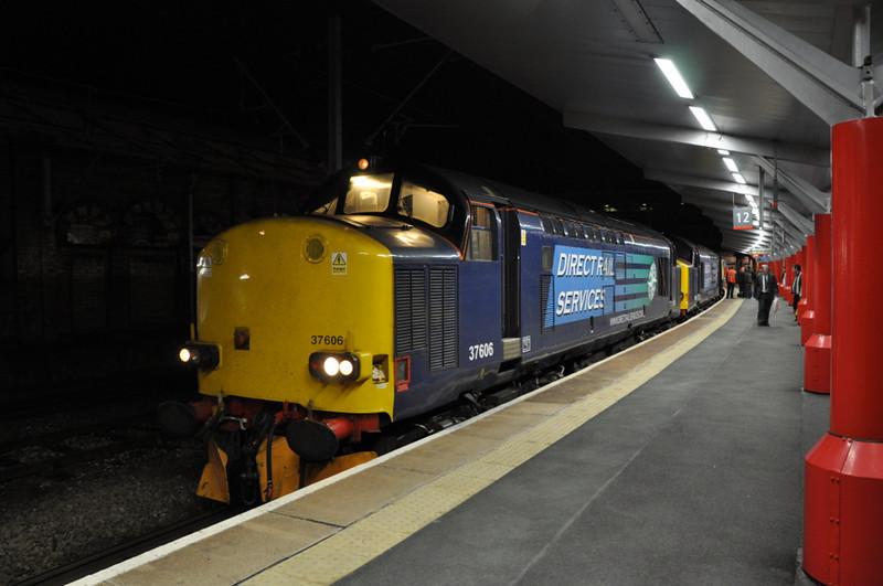 37606 and 37609, Crewe.