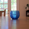 2012.07.11 - Day 11 - Something blue. I love blue glass, so one of my blue glass candle holders.