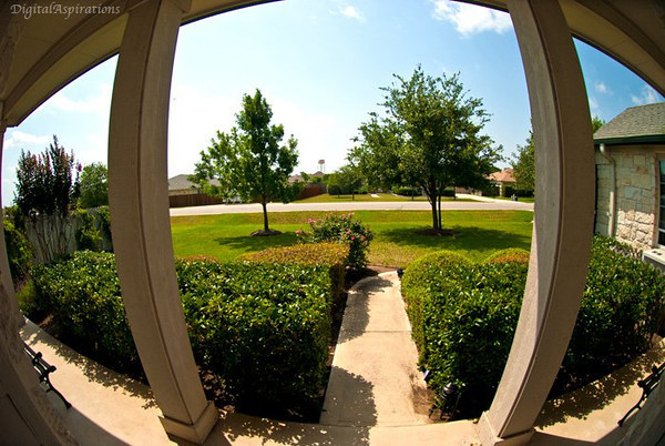 A fish eye view from my front door.