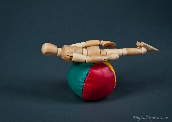 """A bit ironically, Woody tries """"planking.""""<br /> Does he sense a past life?"""