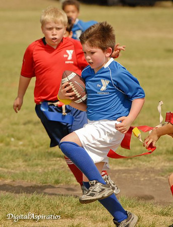 Grandson plays flag football!