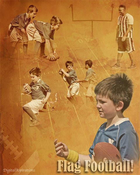 Okay, this is my first effort at a Photoshop composite image without my instructor helping. This was built from images I captured yesterday at Grandson's first flag football game. Reminds me of west texas sandstorm!