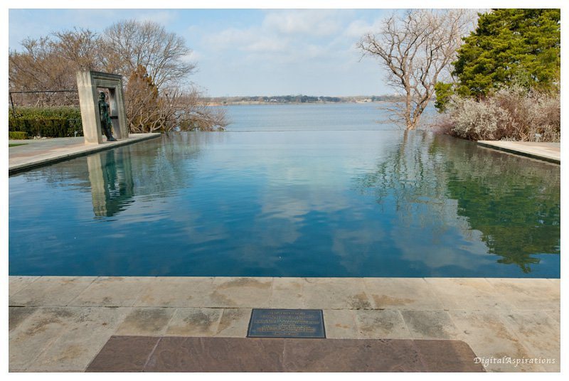 A pool with an infinity edge at the Dallas Arboretum and Botanical Gardens. All of these Arboretum shots were captured with my new 14-24 Nikon wide angle lens.