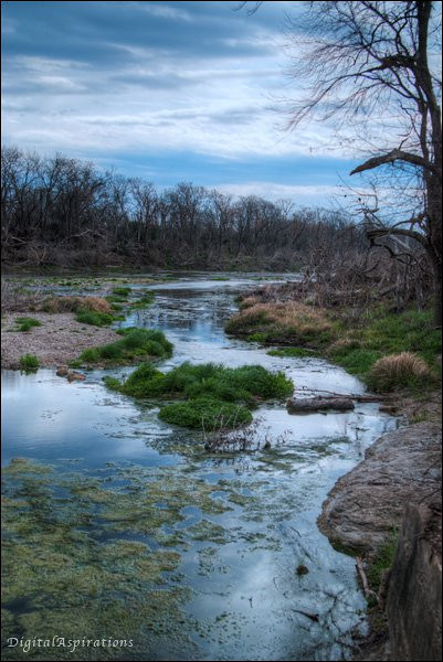 San Gabriel River East of Georgetown Texas. (processed as HDR)