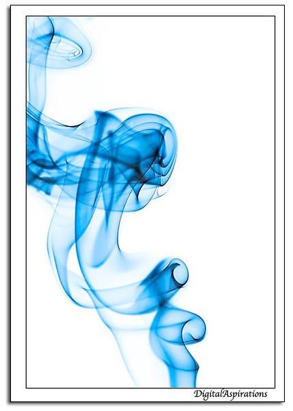 Smoke on white.