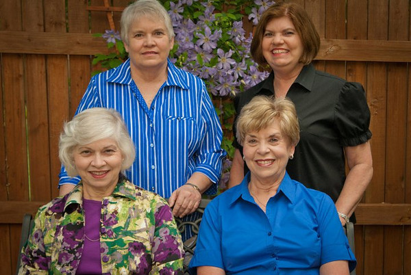 My wife and her sisters, captured at the retirement party for Jo Ann (bottom right)