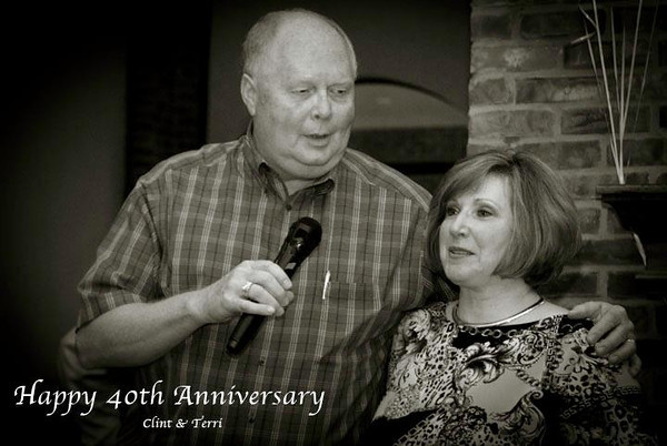 I helped with the photography for friends Clint and Terri's 40th anniversary party last night.