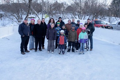 Mission Park Rink official opening.