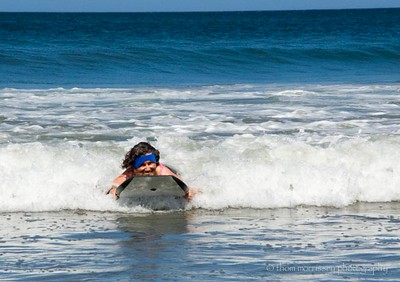 Kathy Dyer boogie boarding and loving it!