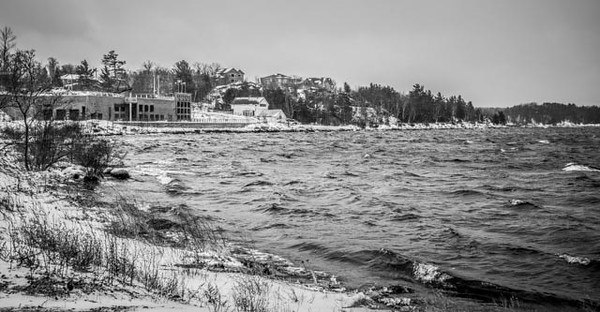 Cold day at the Salt Docks.