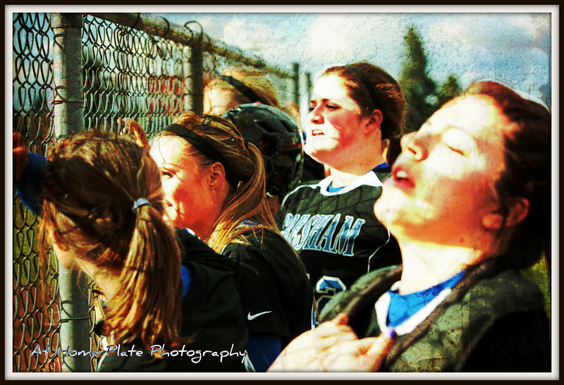 """April 21, 2011<br /> Thursday, 5:26pm<br /> <br /> """"Up on the fence and cheering""""  the girls had great energy today - something they have needed for sometime.  Best game they played all season too.<br /> <br /> f/4.5, 1/1600, 70mm, ISO 400, AV"""