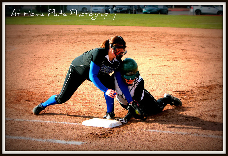 April 29, 2011<br /> Friday<br /> <br /> Taylor trying to put the tag on Jayden during the Gresham vs Reynolds game