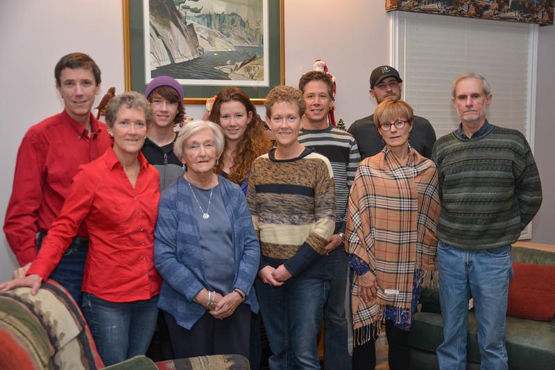 Dec 15 - Christmas dinner with the Biggar family
