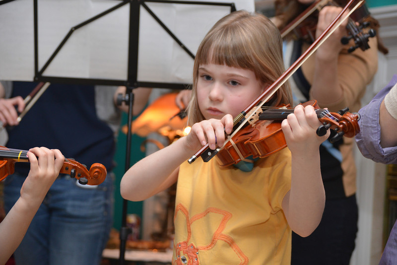 Dec 23 - The annual Dierker-Viik Christmas party and violin concert.