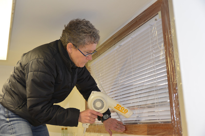 Dec 9 - Adding the window barrier for the cottage.