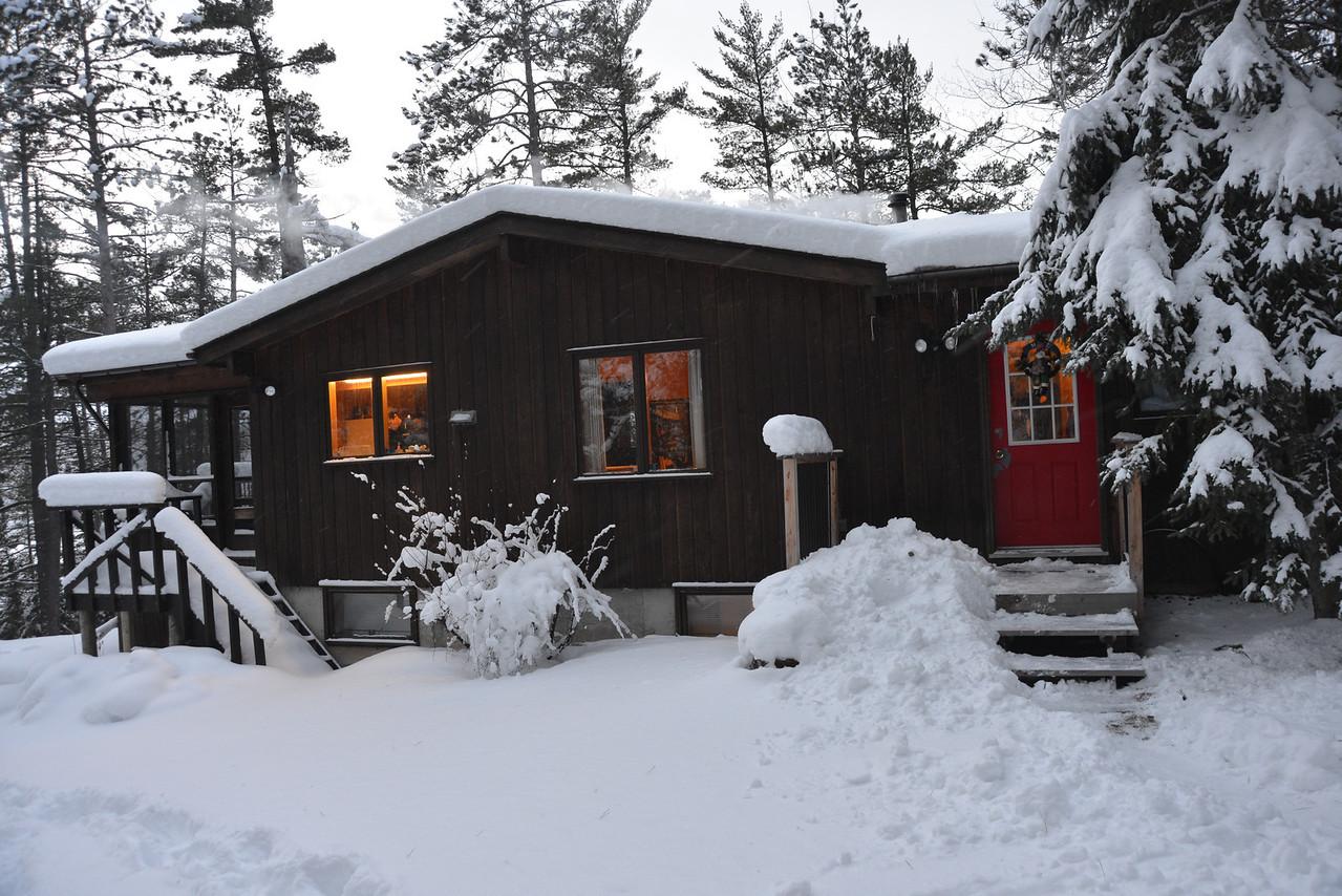 Dec 25 - Winter wonderland at the cottage.