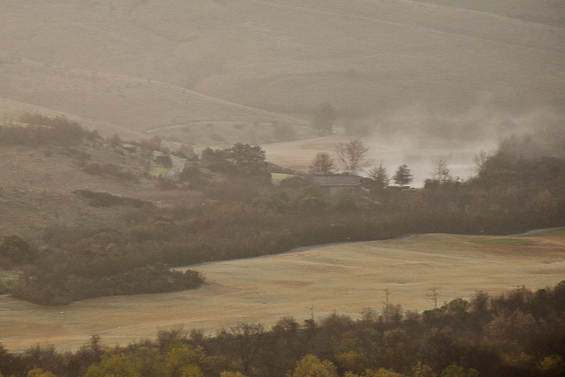 February 7, 2013 -- <b>G</b>olf course in the early morning mist.