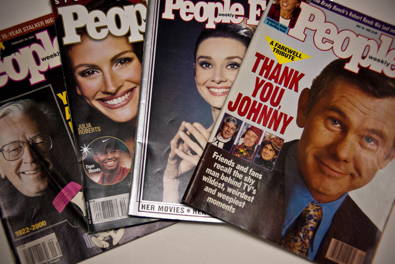 April 4, 2013 -- People magazines from 2000, 1999, 1993, and 1992.