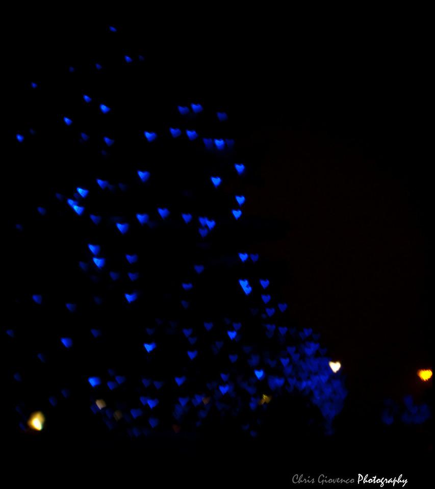 Day 34: Heart Bokeh of Christmas lights.