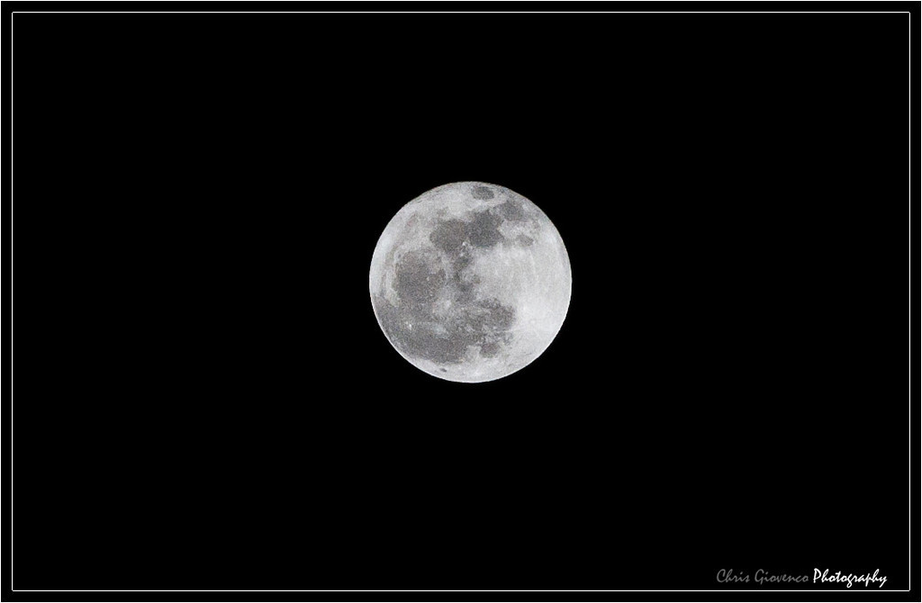 Day 22: Hand held moon shot. (Heavily cropped)