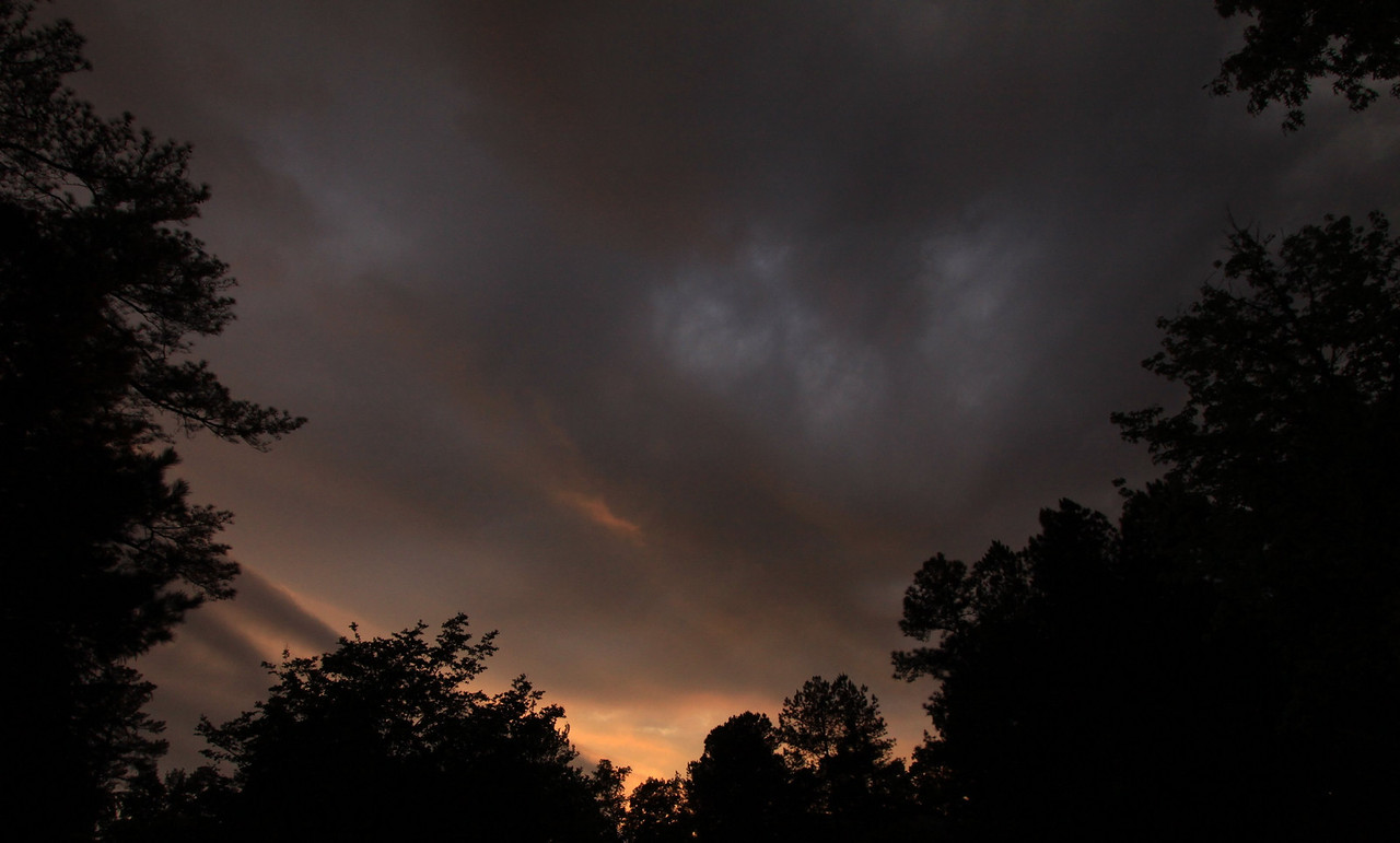Day 111 #365Project-After the T-Storms, a colorful sunset. (2010.04.21)