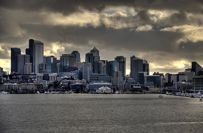 1213 the city  Seattle ... seen from Gasworks Park.